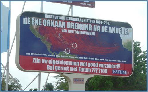 curacao-orkaan-billboard